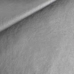 Coupon 50/30 simili cuir métallisé argent - 158