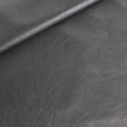 Coupon 50/30 simili cuir métallisé noir - 158