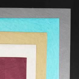 Coupon 50/30 simili cuir métallisé colori assorti - 158