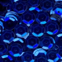 Paillette cuvette 10grs 6mm bleu foncé - 162