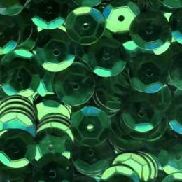 Paillette cuvette 10grs 6mm vert foncé - 162