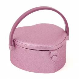 Boite à couture cœur glitter rose - 165