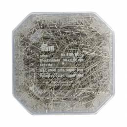 Épingle/piquer n°6 acier argenté 0,50 x 30 mm - 17
