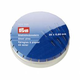 Épingle/piquer n°6 acier argenté 0,60 x 30 mm - 17
