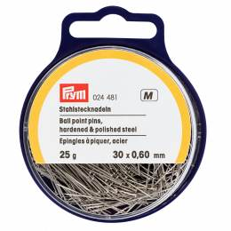 Épingle/piquer acier argenté boule 0,60 x 30 mm - 17