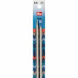 Aiguille à tricoter aluminium 35cm n°5,5 - 17