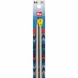 Aiguille à tricoter aluminium 35cm n°6 - 17