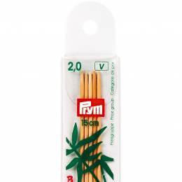 Aiguille à tricoter bambou 15cm n°2 - 17
