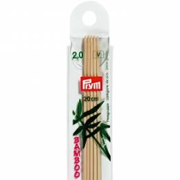 Aiguille tricot 2 pt bambou 20cm n°2 - 17