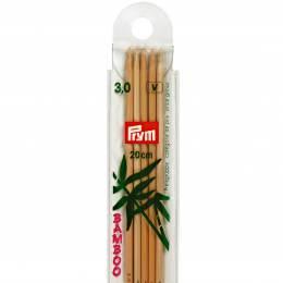 Aiguille tricot 2 pt bambou 20cm n°3 - 17