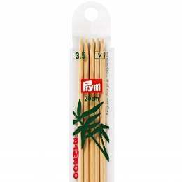 Aiguille tricot 2 pt bambou 20cm n°3,5 - 17