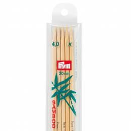 Aiguille tricot 2 pt bambou 20cm n°4 - 17