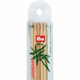 Aiguille tricot 2 pt bambou 20cm n°5 - 17