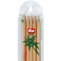 Aiguille tricot 2 pt bambou 20cm n°7 - 17