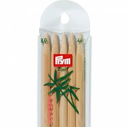 Aiguille tricot 2 pt bambou 20cm n°8 - 17