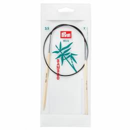 Aiguille circulaire bambou 60cm n°3,5 - 17