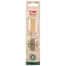 Aiguilles à tricoter 2 pointes bambou 15 cm n°3 - 17