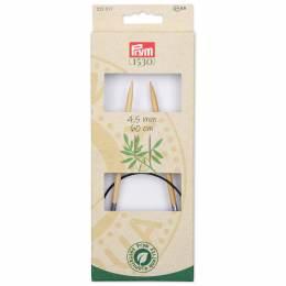 Aiguille à tricoter circulaire bambou 60 cm n°4,5 - 17