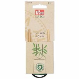 Aiguille à tricoter circulaire bambou 40 cm n°3,5 - 17
