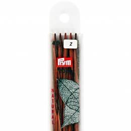 Aiguille tricot 2 pt bois natural 20cm n°4,5 - 17