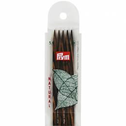 Aiguille tricot 2 pt bois natural 20cm n°5 - 17