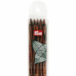 Aiguille tricot 2 pt bois natural 20cm n°6,5 - 17