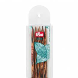 Aiguille tricot 2 pt bois natural 20cm n°7 - 17