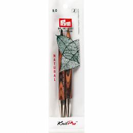 Pointe d'aiguille tricot bois natural 12cm n°9 - 17