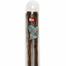 Aiguille à tricoter bois natural 40 cm n°10 - 17