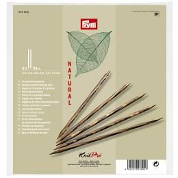 Set aiguille 2 pt bois natural 20cm n°2-4,5 - 17