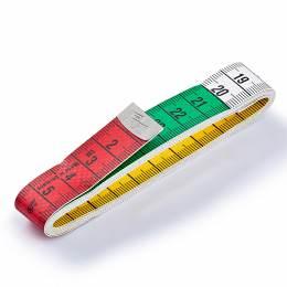 Mètre ruban 150cm color plus jaune/blanc - 17