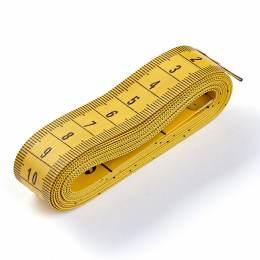 Mètre ruban 150cm fibre de verre jaune/jaune pli - 17