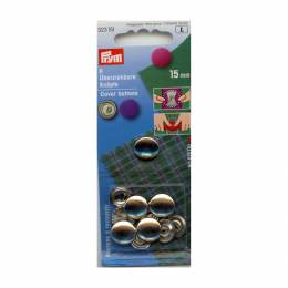 Bouton/recouvrir 24 = 15mm laiton argenté sans out - 17