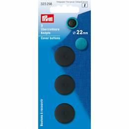 Boutons à recouvrir plast. 22 mm noir 3 pce - 17