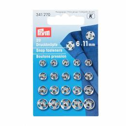 Bouton pression/coudre assortis 6-11mm arge - 17