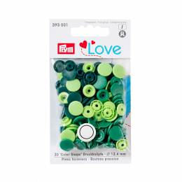 Prym love boutons pression plastique vert 12 mm - 17