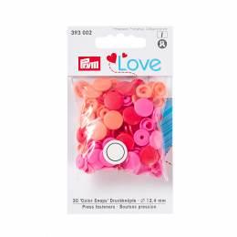 Prym love boutons pression plastique rouge 12 mm - 17