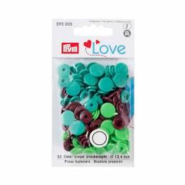 Prym love bout. press. plast. 12,4mm vert/vert cla - 17