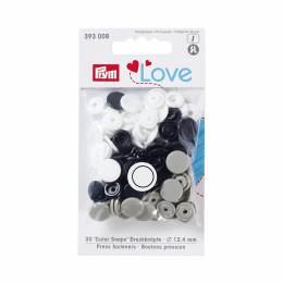 Prym love bout. press. plast. 12,4mm marine/gris/b - 17