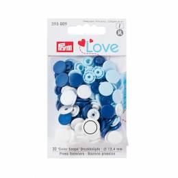 Prym love bout. press. plast. 12,4mm bleu/blanc/bl - 17