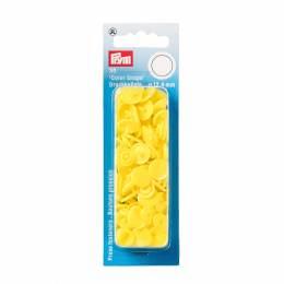 Boutons pression color snaps jaune clair 12,4 mm - 17