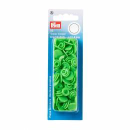 Boutons pression color snaps vert clair 12,4 mm - 17