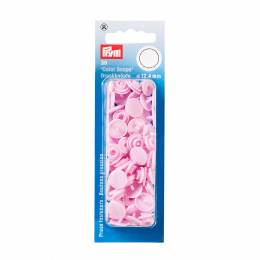 Boutons pression color snaps rose 12,4 mm - 17