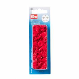 Boutons pression color snaps etoile rouge - 17