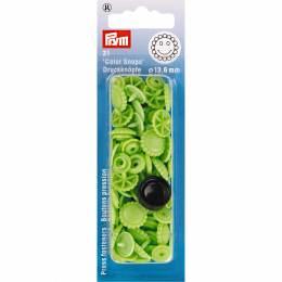 Boutons pression color snaps fleur 13,6 mm vert - 17