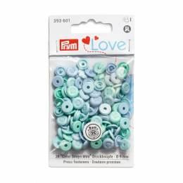 Prym love boutons pression color snaps bleu - 17