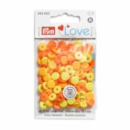 Prym love boutons pression color snaps orangé - 17