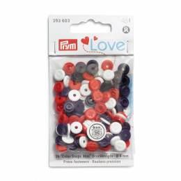 Prym love boutons pression rouge/blanc/violet - 17