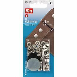 Rivet tubulaire pour épaisseur 4-6mm argent 15p - 17