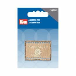 Handmade label etiquette 40x30mm beige - 17